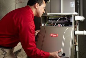 furnace installation with bryan certified technician