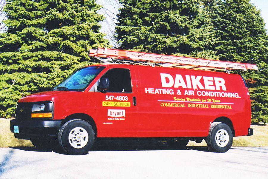 Daiker Heating hvac service van in Waukesha, WI